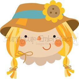 Girl Scarecrow SVG