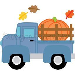 Pumpkin Vintage Truck SVG