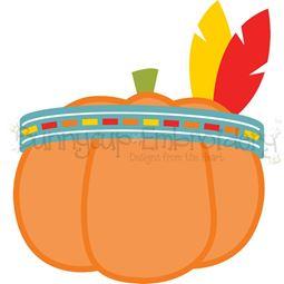 Indian Headdress Pumpkin SVG