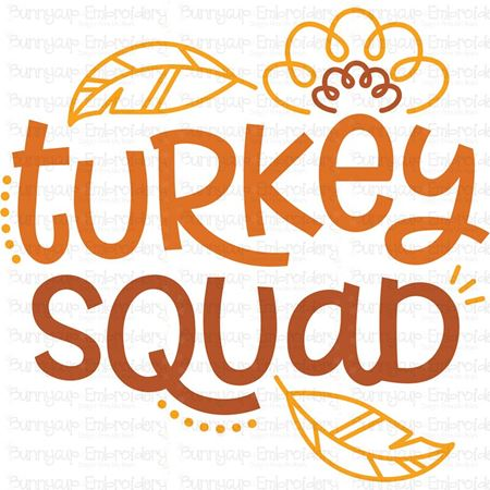 Turkey Squad SVG