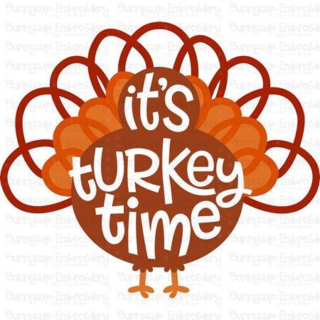 It's Turkey Time SVG