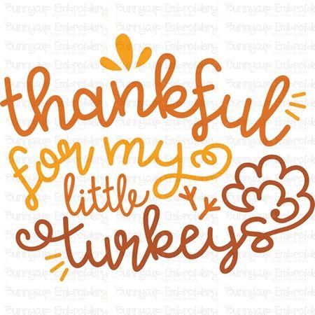 Thankful For My Little Turkey SVG