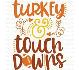 Turkey And Touch Downs SVG
