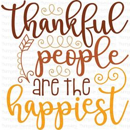Thankful People Are The Happiest SVG