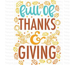 Full Of Thanks And Giving SVG