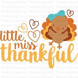 Little Miss Thankful SVG