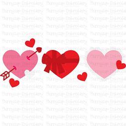 Hearts Trio SVG