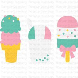 Summer Ice Cream Trio SVG
