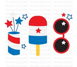 4th of July Trio SVG