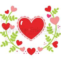 Valentines Laurels SVG