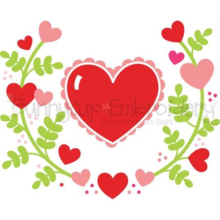 Heart Laurel SVG