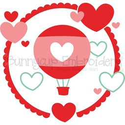 Hot Air Balloon Laurel SVG