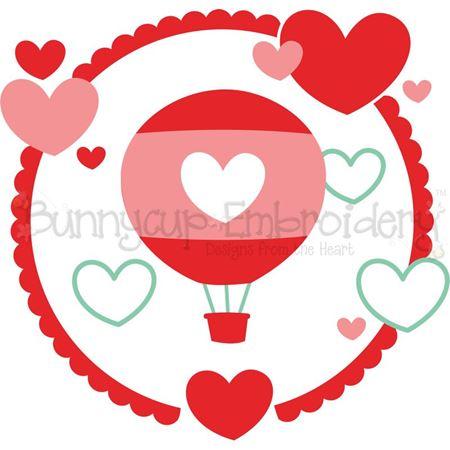 Hot Air Balloon Laurel SVG
