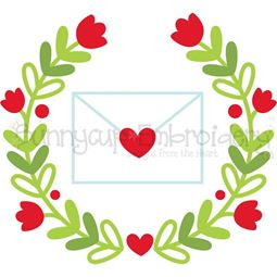 Love Letter Laurel SVG