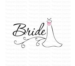Bride With Wedding Gown SVG
