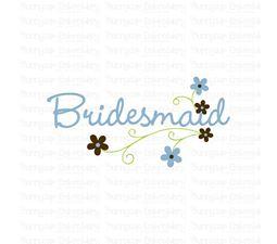 Floral Bridesmaid SVG