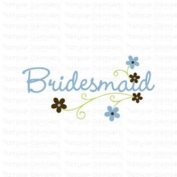 Floral Bridesmaid SVG