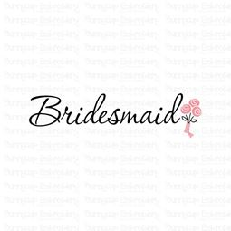 Bridesmaid With Bouquet SVG
