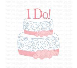 I Do Wedding Cake SVG