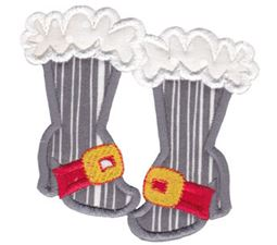 Girls Santa Boots Applique