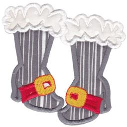 Girls Santa Boots Applique