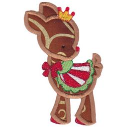 Cute Reindeer Applique