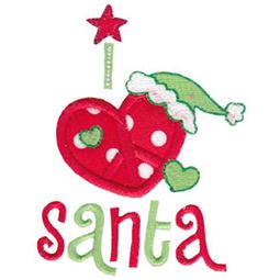I Love Santa Applique