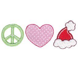 Peace Love Santa Hat