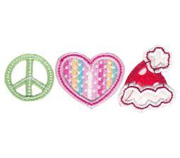 Peace Love Santa Hat Applique
