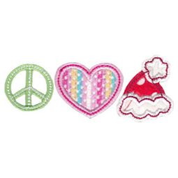 Peace Love Santa Hat Applique