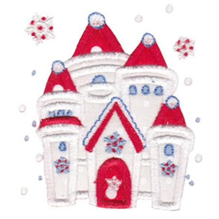 Snow Castle Applique