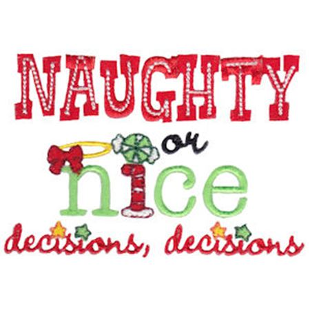 Naughty Or Nice Decisions Decisions