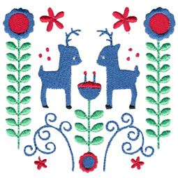 Scandi Deer Folk Art