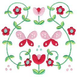 Scandi Butterfly Folk Art