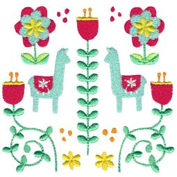 Scandi Llama Folk Art
