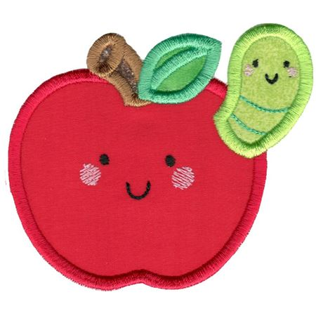 Applique Apple and Caterpillar