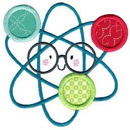 Applique Glasses Atom