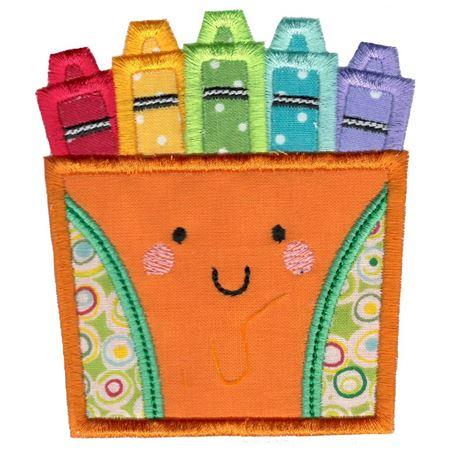 Applique Box Of Crayons