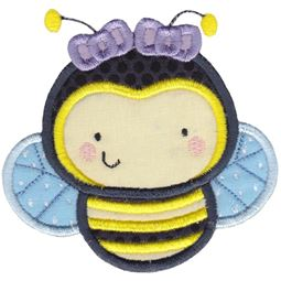 Girl Bumble Bee Applique