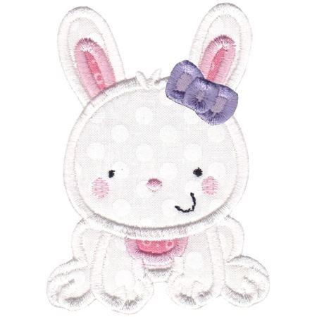 Girl Bunny Applique