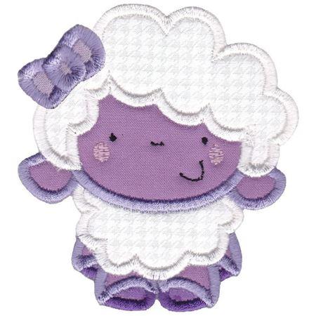 Girl Sheep Applique