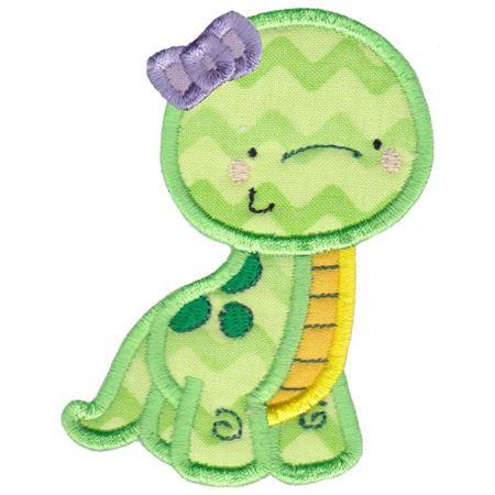 Girl Dinosaur Applique