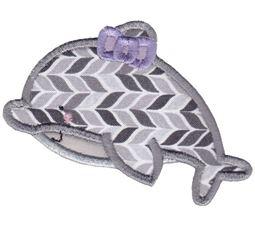 Girl Dolphin Applique