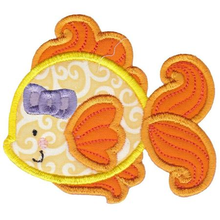 Girl Goldfish Applique