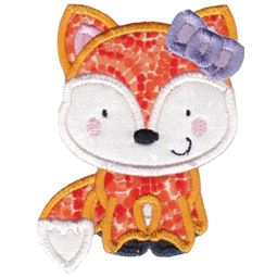 Girl Fox Applique