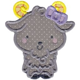 Girl Goat Applique