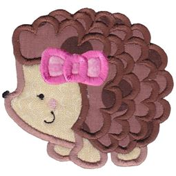 Girl Hedgehog Applique