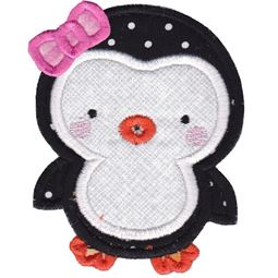 Girl Penguin Applique