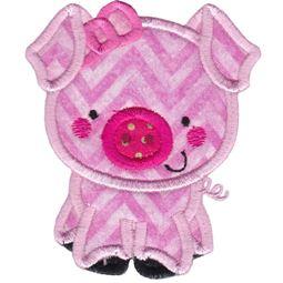 Girl Pig Applique