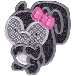 Girl Squirrel Applique